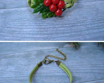Traditional christmas gift Christmas bracelet Holiday jewelry Christmas jewelry Holiday bracelet Winter bracelet Xmas bracelet Xmas jewelry