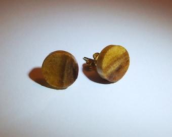 Handmade wood turned earrings