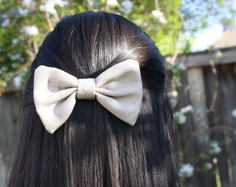 Large Light Coffee Colored Hair Bow