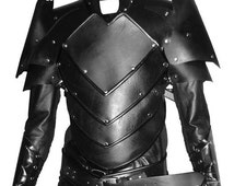 Real leather medieval Fantasy Dragon-Age Fenris style armour re-enactment Armor LARP SCA Burning Man festival viking Halloween Costume