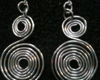 Double swirl earrings