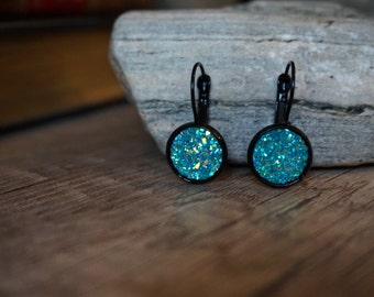 """Blue Crystal"" earrings"