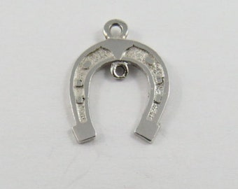 Lucky Horseshoe Sterling Silver Pendant or Charm.