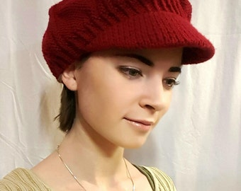 Knitted Newsboy hat