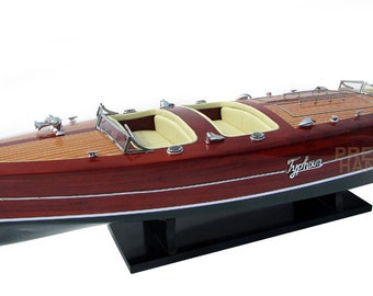 "39"" Typhoon Wooden Model Boat"