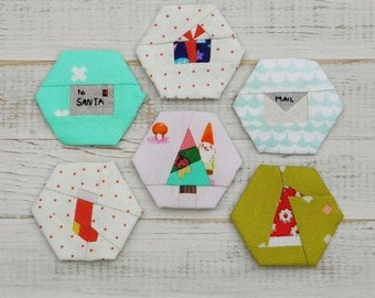 Christmas Delights - a paper piecing hexagon pattern