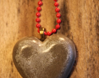 Concrete HEART necklace PENDANT