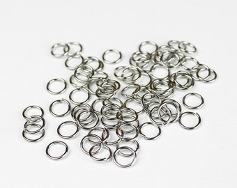 Stainless Steel Jump Rings 8mm - 50 Pieces