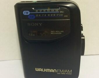 Sony Walkman FM/AM, WM-FX101, Portable Cassette Player