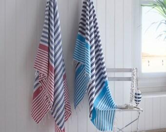Hammam Towel   Fouta   Peshtemal   Bathroom   Beach   Towel   Lightweight   Colourful   Stripy   Beach Towel