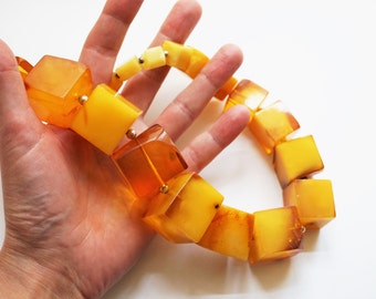 211g. Huge Necklace Natural Baltic Amber