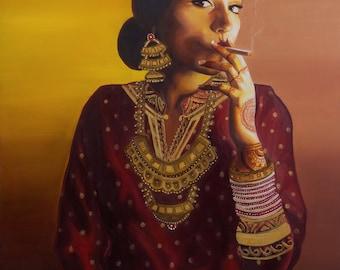 Badass Indo-Chinese Bride (2015) Fine Art Giclée Print