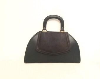 Vintage 50's Flap Front Leather Purse Handbag
