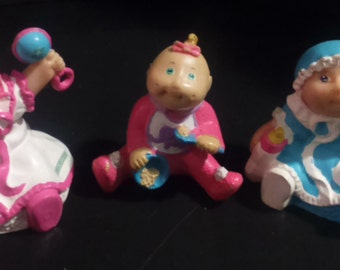 Vintage 1980's Cabbage PATCH Kids Assorted Baby PVC Figurines