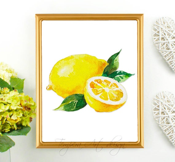 Kitchen Poster Food As Alphabet With Food Name: Lemon Print Lemon Decor Lemon Wall Art Kitchen By