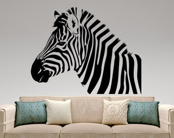 Zebra Wall Decal Etsy - Zebra print wall decals