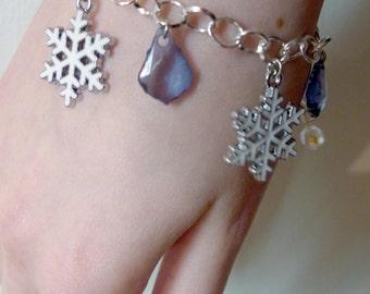 Ice Winter Snowflake bracelet