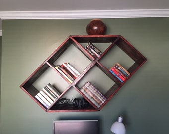 Cool Diagonal Bookcases