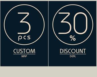 Limited Offer! 3 MAPS - 30% DISCOUNT! Great deal!