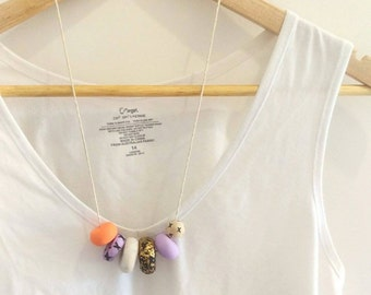 My Sparkly Ex // Polymer Clay // Necklace // Wooden Beads