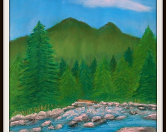 End of Summer Pemi' - Pastel Painting