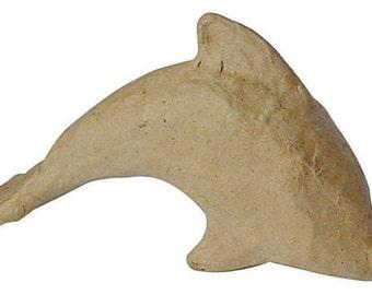 3D Papier Mache Dolphin, Papier Mache Dolphin, Decoupage Dolphin, Decopatch Dolphin,