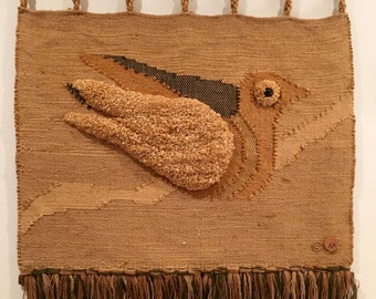 Vintage Woven Tapestry - Don Freedman Jute Wall Hanging