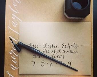 Wedding Calligraphy Outer Envelope