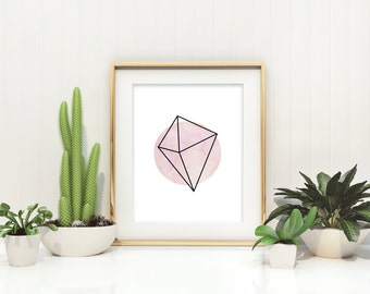 Geometric Print Minimalist Art Skandi Wall Art Modern Workspace Decor Modern Wall Art Office Wall Decor Abstract Decor Geometric Poster