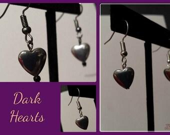 Dark Heart Earrings