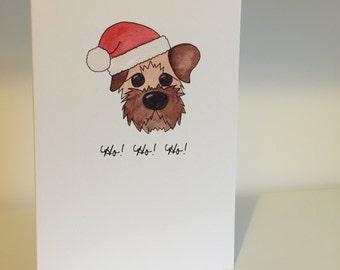 Border Terrier Christmas Card