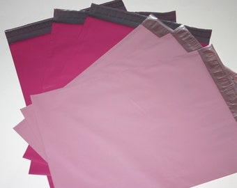 20 12x15.5 Poly Mailers Raspberry Pink Pale Pink 10 Each Self Sealing Envelopes Shipping Bags Spring Easter