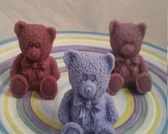teddy bear soap, bear soap, hand soap, décor soap, guest soap