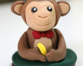 Adorable Monkey Clay Stamp