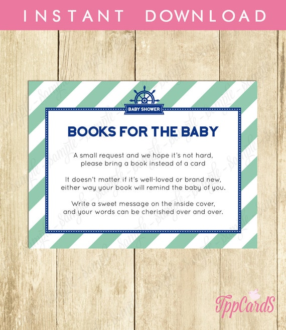 bring a book baby shower invitation insert instead of a card stock