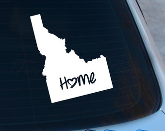 Idaho Decal - State Decal - Home Decal - ID Sticker - Love - Laptop - Macbook - Car Decal