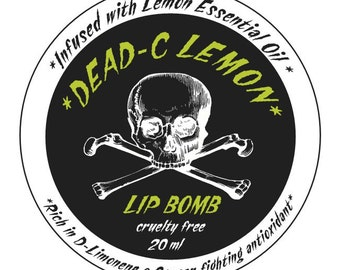 20 ML. DEAD-C Lip Bomb with essential oil!! (16 flavors available!!)