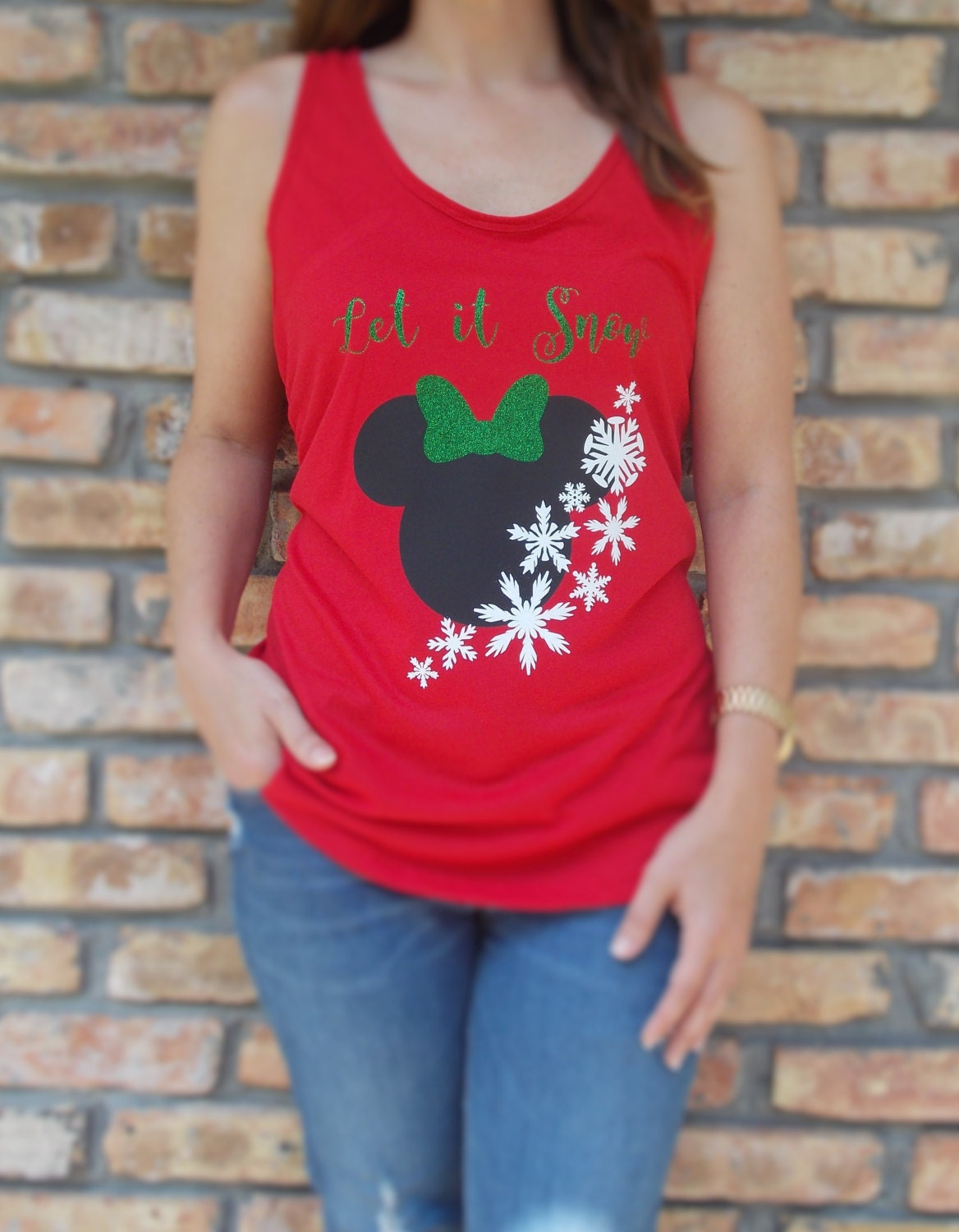 123 teach me tank game - Disney Inspired Minnie Mouse Christmas Tank For Adults Kids Disney Christmas Shirt Disney Let It Snow Minnie Mouse Christmas