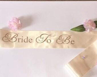 Bride to be sash - Bride to Be Bachelorette Sash - Bridal Shower Bachelorette Party Accessory - Satin Bride Sash - Bride Gift - Bride Sash