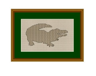Сrocodile Counted Cross Stitch Pattern. PDF Instant Download. Pattern. Decor Pattern. Animals Pattern.