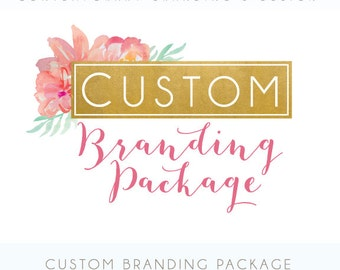 Etsy Branding Package - Custom logo, Etsy banner and avatar, Business card, custom listing, reserved listing - Custom to fit your Etsy shop