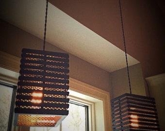 steel pendant light