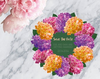 Floral Printable Wedding Invitation Save The Date - Print at home save the date