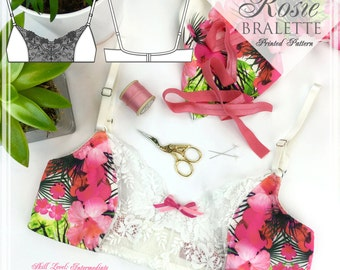 PRINTED Sewing Pattern - Rosie Bra Sewing Pattern - E3001 from EVIE la LUVE