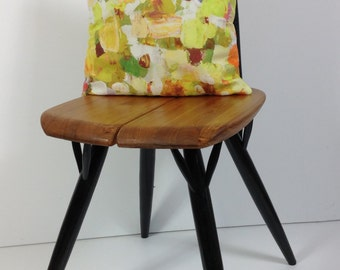 Abstract paint stroke cushion