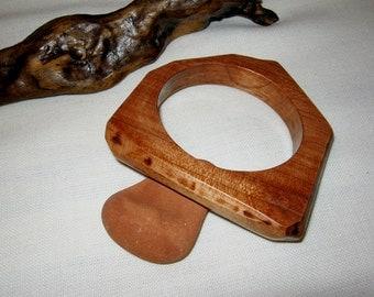 Handmade Wooden Curved Bracelet