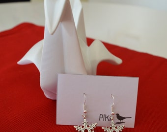 "Silver Earrings ""Snowflake"""
