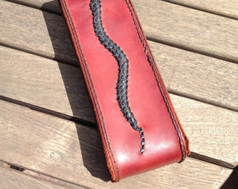 Whetstone with Pouch: Snake Braid Pattern