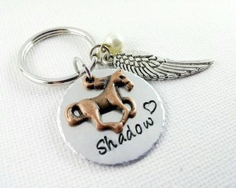 Horse Memorial Keychain~ Pet Loss~ Horse Memorial Jewelry~ Custom Horse~ Equestrian Gifts~ Horse Lover Gifts
