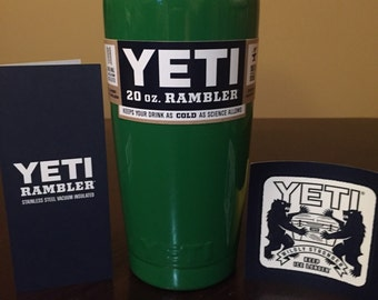 YETI Rambler 20oz Kelly Green Powder Coated